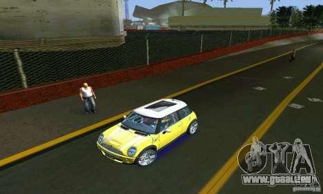 Mini Cooper S für GTA Vice City Rückansicht
