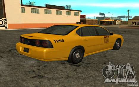 Chevrolet Impala Taxi 2003 pour GTA San Andreas laissé vue