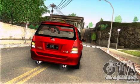 Toyota Kijang Innova 2.0 G für GTA San Andreas rechten Ansicht