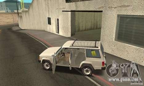 Jeep Grand Cherokee 1986 für GTA San Andreas obere Ansicht