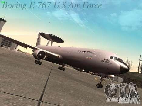 Boeing E-767 U.S Air Force pour GTA San Andreas sur la vue arrière gauche