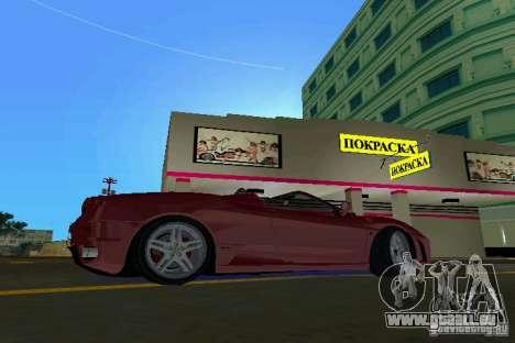 Ferrari F430 Spider 2005 für GTA Vice City linke Ansicht