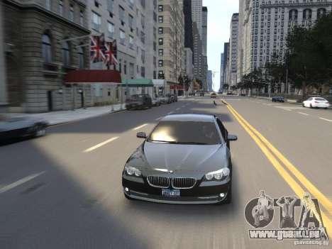 BMW 550i F10 pour GTA 4 vue de dessus