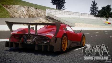 Pagani Zonda R pour GTA 4 vue de dessus