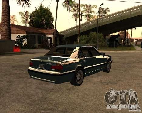 BMW 750iL pour GTA San Andreas laissé vue
