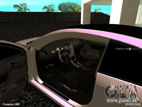 Toyota Scion für GTA San Andreas Innenansicht