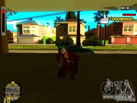 Dante pour GTA San Andreas cinquième écran