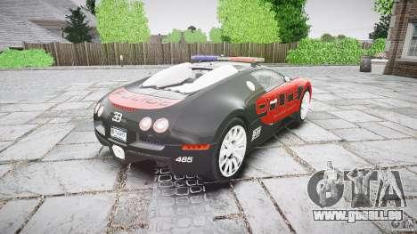 Bugatti Veyron 16.4 Police [EPM/ELS] pour GTA 4 est un côté