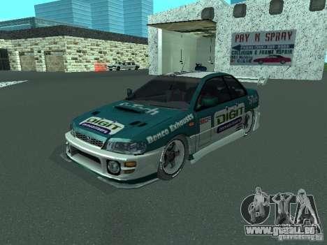 Subaru Impreza pour GTA San Andreas vue de dessus