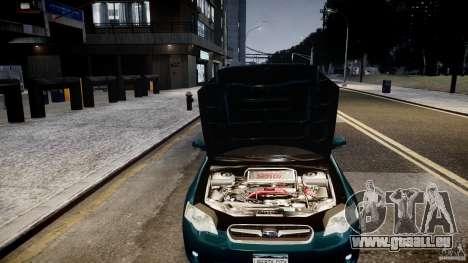 Subaru Legacy B4 GT pour GTA 4 Vue arrière