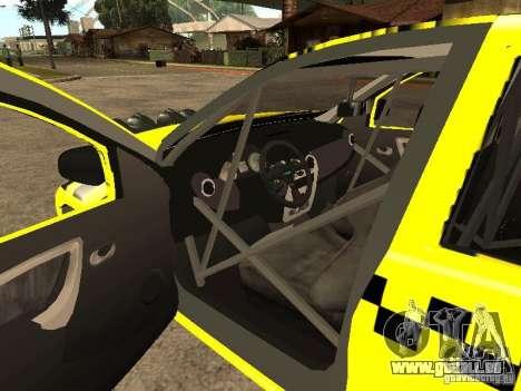 Dacia Sandero Speed Taxi pour GTA San Andreas vue de côté
