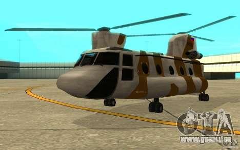 GTA SA Chinook Mod pour GTA San Andreas laissé vue