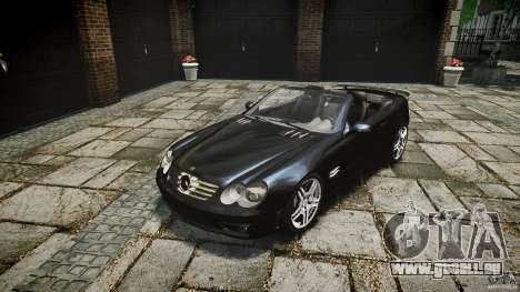 Mercedes Benz SL65 AMG pour GTA 4 est une vue de l'intérieur