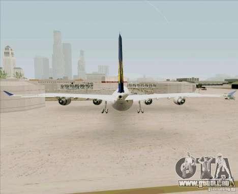 Airbus A-340-600 Lufthansa pour GTA San Andreas sur la vue arrière gauche