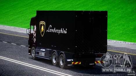Scania R580 Tandem pour GTA 4 Vue arrière de la gauche