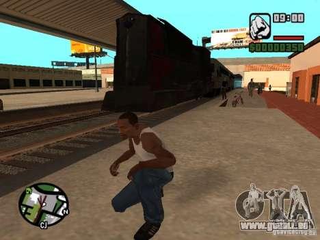 Combinez train depuis le jeu Half-Life 2 pour GTA San Andreas sur la vue arrière gauche