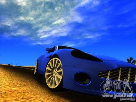 Aston Martin V12 Vanquish V1.0 pour GTA San Andreas laissé vue