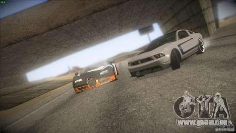 Bugatti Veyron Super Sport pour GTA San Andreas moteur