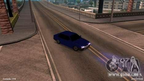 BAZ 21099 pour GTA San Andreas vue intérieure
