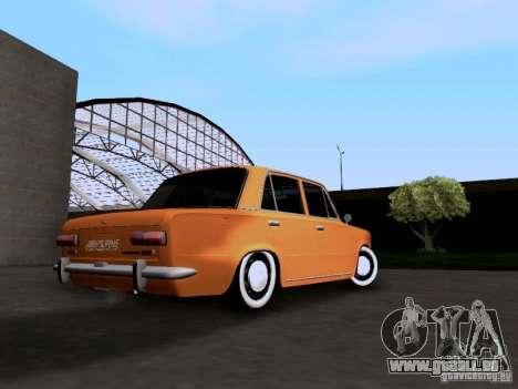 VAZ 2101 Resto für GTA San Andreas zurück linke Ansicht