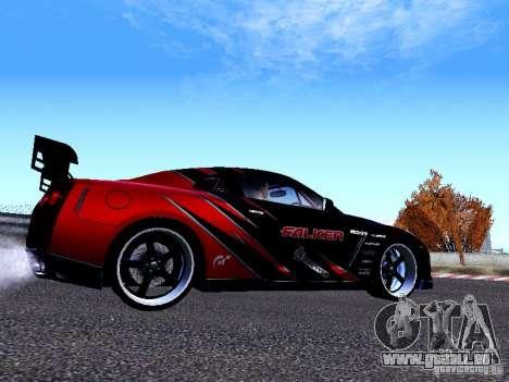 Nissan Skyline R35 Drift Tune für GTA San Andreas zurück linke Ansicht
