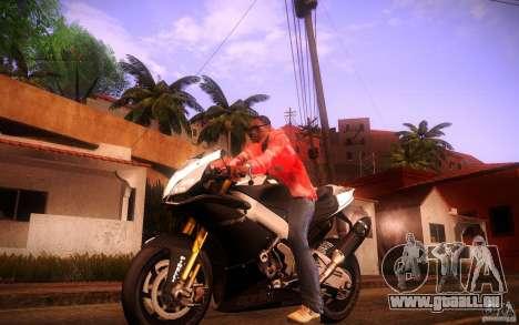 Aprilia RSV-4 Black Edition für GTA San Andreas linke Ansicht