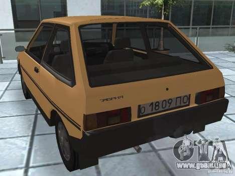 ZAZ Tavria 1103 pour GTA San Andreas sur la vue arrière gauche