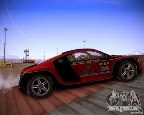 Audi R8 Shift für GTA San Andreas Innenansicht