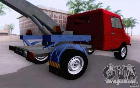Camion de remorquage LuAZ 13021 pour GTA San Andreas sur la vue arrière gauche