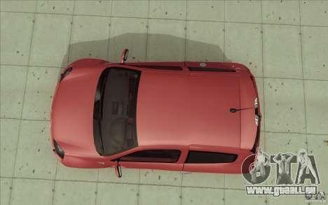 Renault Clio V6 pour GTA San Andreas vue de droite