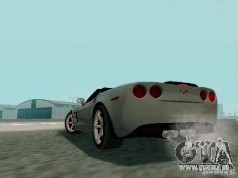 Chevrolet Corvette C6 GS Convertible 2012 pour GTA San Andreas vue intérieure