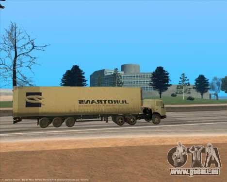 Semi-remorque pour GTA San Andreas laissé vue