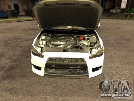 Mitsubishi Lancer X Police Indonesia für GTA San Andreas rechten Ansicht