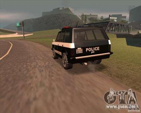 Huntley Police Patrol pour GTA San Andreas sur la vue arrière gauche