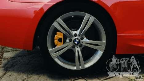 BMW M6 F13 2013 v1.0 pour GTA 4 est une vue de dessous