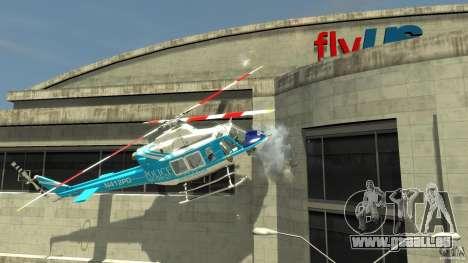 NYPD Bell 412 EP pour GTA 4 Vue arrière de la gauche