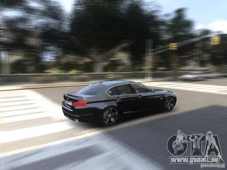 BMW 550i F10 pour GTA 4 est une vue de l'intérieur