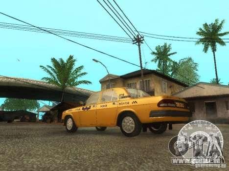 GAZ 3110 Wolga taxi für GTA San Andreas zurück linke Ansicht