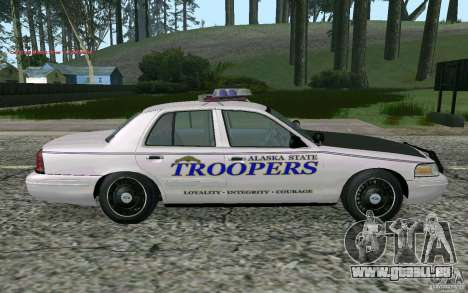 Ford Crown Victoria Police für GTA San Andreas rechten Ansicht