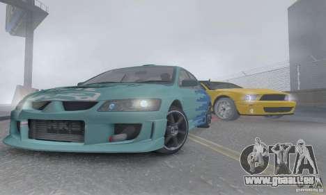 Mitsubishi Lancer Evolution 8 Tuneable pour GTA San Andreas vue de côté