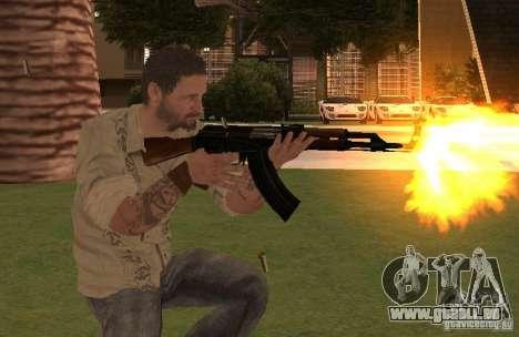 Frank Woods de Call of Duty Black Ops pour GTA San Andreas troisième écran
