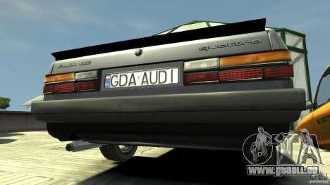 Audi 80 B2 1985 Quattro pour GTA 4 est un droit