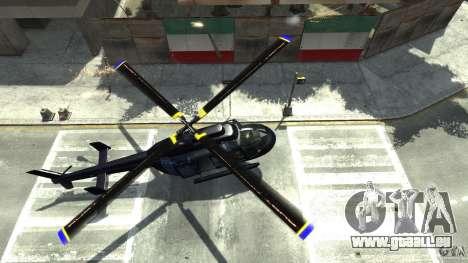 NYC Helitours Texture pour GTA 4 Vue arrière
