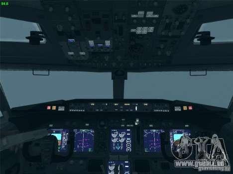 Boeing 737 Iron Man Bussines Jet pour GTA San Andreas vue de dessus