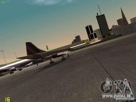 Aerospatiale-BAC Concorde Air France für GTA San Andreas Rückansicht