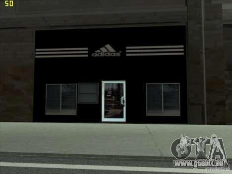 Remplacement complet du magasin Binco Adidas pour GTA San Andreas deuxième écran