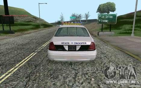 Ford Crown Victoria Police für GTA San Andreas zurück linke Ansicht