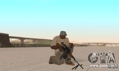 La portable mitrailleuse Kalachnikov pour GTA San Andreas troisième écran