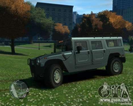 Hummer H1 für GTA 4 hinten links Ansicht
