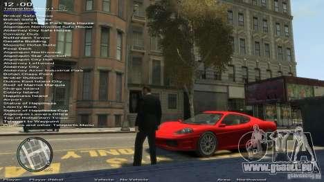 Einfache Trainer Version 6.2 für 1.0.1.0-1.0.0.4 für GTA 4 siebten Screenshot